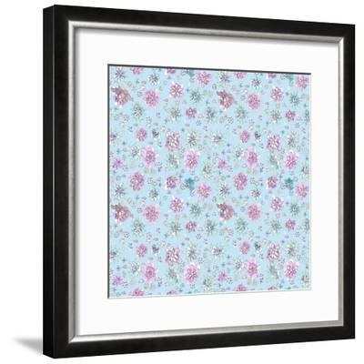 Lilac Flowers on Sky Blue-Effie Zafiropoulou-Framed Giclee Print