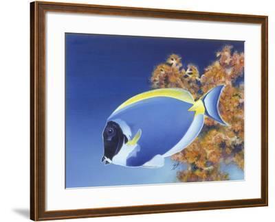 Powder Blue Tang-Durwood Coffey-Framed Giclee Print
