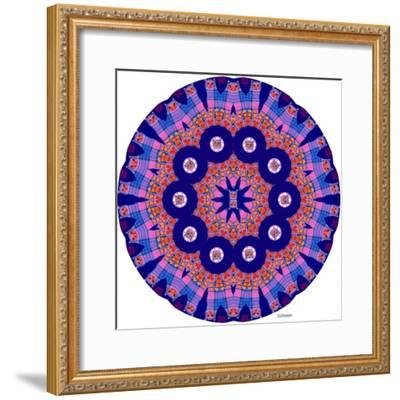 Cat Mandala X-David Sheskin-Framed Giclee Print