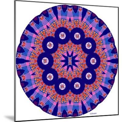 Cat Mandala X-David Sheskin-Mounted Giclee Print