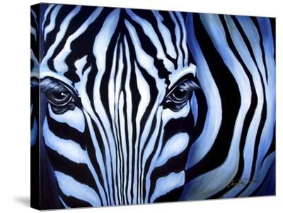 Blue Zebra-Cherie Roe Dirksen-Stretched Canvas Print