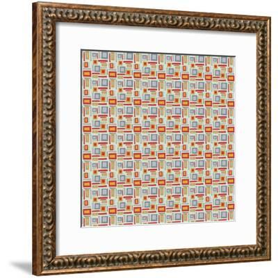 Rectangles on Greyblue-Effie Zafiropoulou-Framed Giclee Print