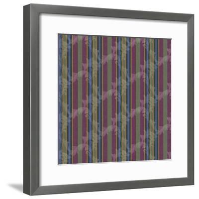 Scroll Stripe Plum-Bill Jackson-Framed Giclee Print