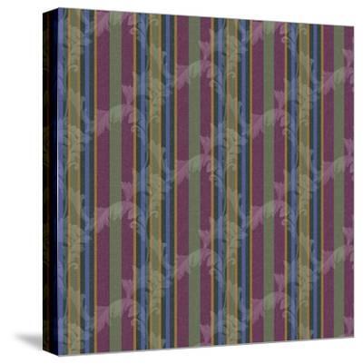 Scroll Stripe Plum-Bill Jackson-Stretched Canvas Print