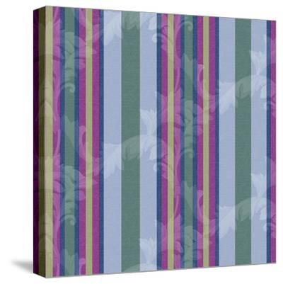 Scroll Stripe Periwinkle-Bill Jackson-Stretched Canvas Print