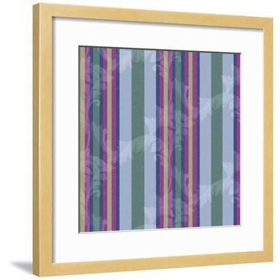 Scroll Stripe Periwinkle-Bill Jackson-Framed Giclee Print