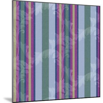 Scroll Stripe Periwinkle-Bill Jackson-Mounted Giclee Print