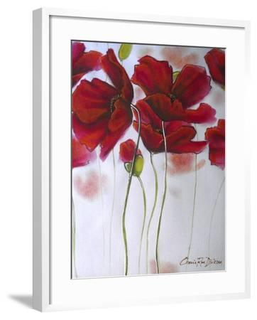 Red Poppies-Cherie Roe Dirksen-Framed Giclee Print