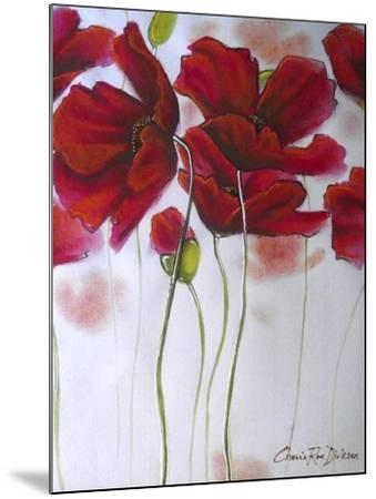 Red Poppies-Cherie Roe Dirksen-Mounted Giclee Print
