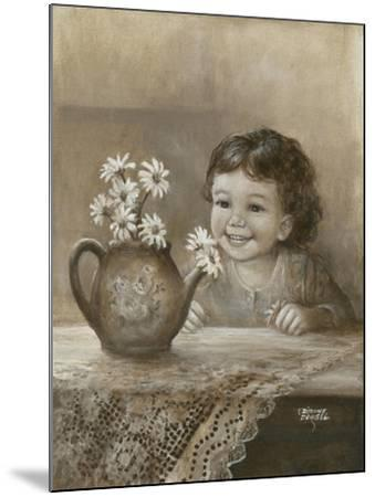 Kid with Daises-Dianne Dengel-Mounted Giclee Print