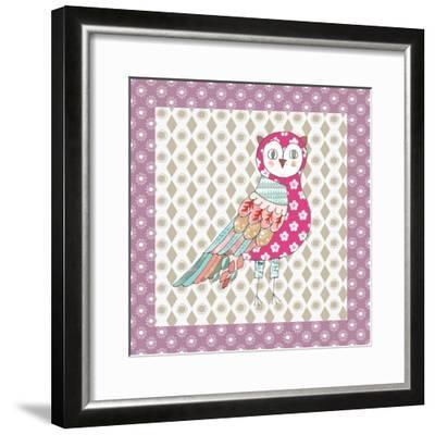 Xmas Owl-Effie Zafiropoulou-Framed Giclee Print