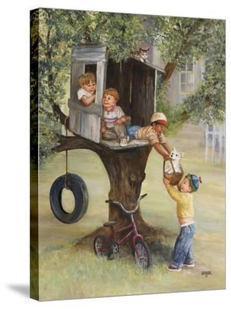 Tree House-Dianne Dengel-Stretched Canvas Print