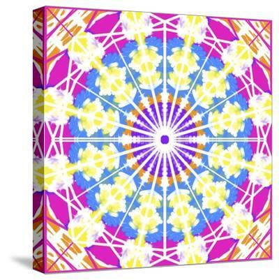 Abstract blue medallion-Deanna Tolliver-Stretched Canvas Print