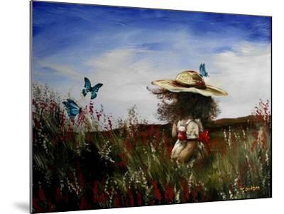 Heather with Butterflies-Cherie Roe Dirksen-Mounted Giclee Print