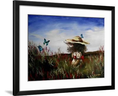 Heather with Butterflies-Cherie Roe Dirksen-Framed Giclee Print