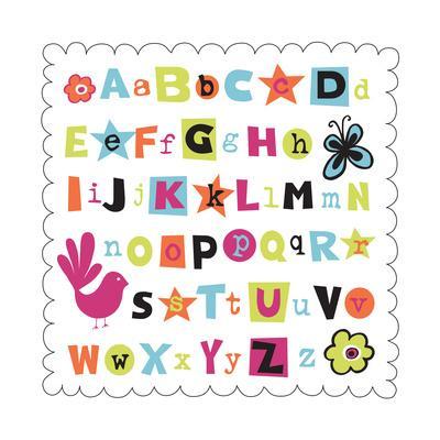 Alphabet-Esther Loopstra-Framed Giclee Print
