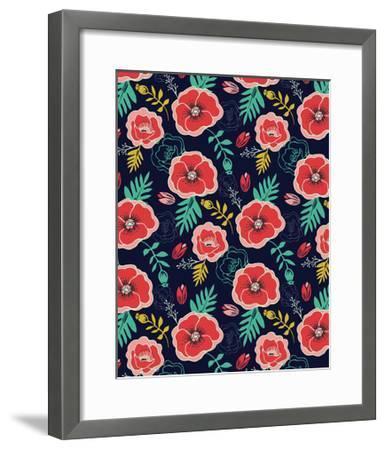 Floral Pattern V-Esther Loopstra-Framed Giclee Print