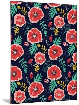 Floral Pattern V-Esther Loopstra-Mounted Giclee Print