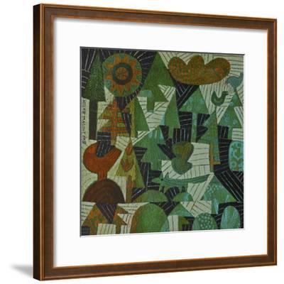 Fox in the Woods-Hilke Macintyre-Framed Giclee Print