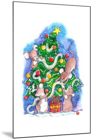 Oh Christmouse Tree!-Emma Graham-Mounted Giclee Print