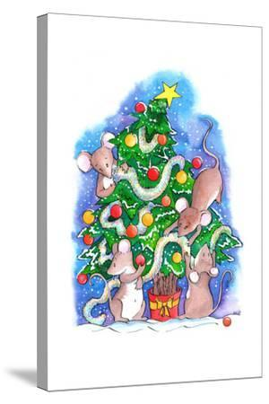 Oh Christmouse Tree!-Emma Graham-Stretched Canvas Print