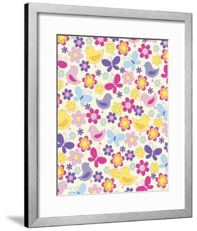 Easter Chicks-Esther Loopstra-Framed Giclee Print