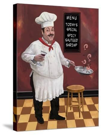 Shrimp Chef-Frank Harris-Stretched Canvas Print