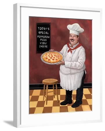 Pizza Chef Master-Frank Harris-Framed Giclee Print