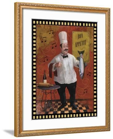 Chef Fish Master Design-Frank Harris-Framed Giclee Print