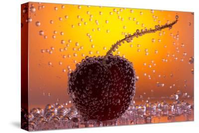 Cherry Underwater-Gordon Semmens-Stretched Canvas Print