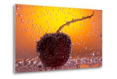 Cherry Underwater-Gordon Semmens-Metal Print