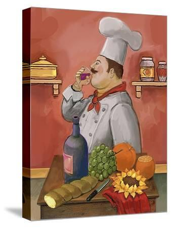 Wine Chef Master-Frank Harris-Stretched Canvas Print