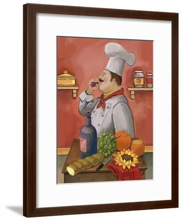 Wine Chef Master-Frank Harris-Framed Giclee Print