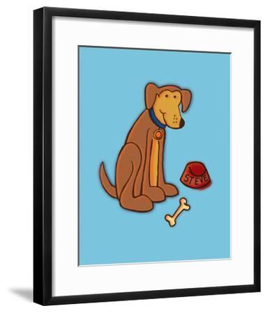 Dog Bone, Card-Esther Loopstra-Framed Giclee Print