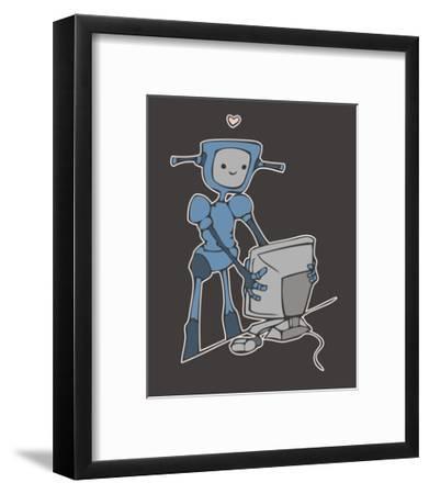 Robot, Computer, Love-Esther Loopstra-Framed Giclee Print