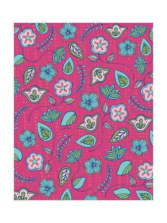 Floral Pattern IV-Esther Loopstra-Framed Giclee Print