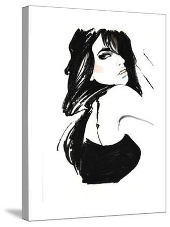 Brunette 1-FS Studio-Stretched Canvas Print