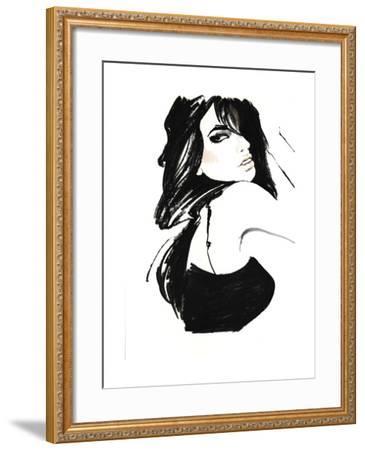 Brunette 1-FS Studio-Framed Giclee Print