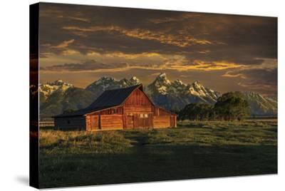 Moulton Barn Sunrise-Galloimages Online-Stretched Canvas Print