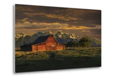 Moulton Barn Sunrise-Galloimages Online-Metal Print