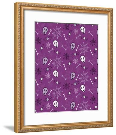 Skulls, Spiders, Bones-Esther Loopstra-Framed Giclee Print