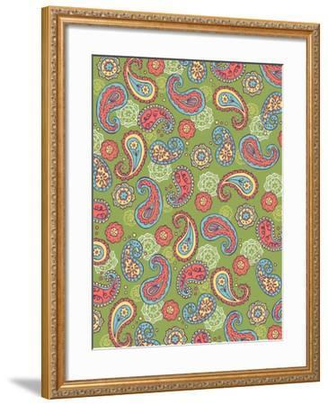 Paisley Pattern, Card-Esther Loopstra-Framed Giclee Print