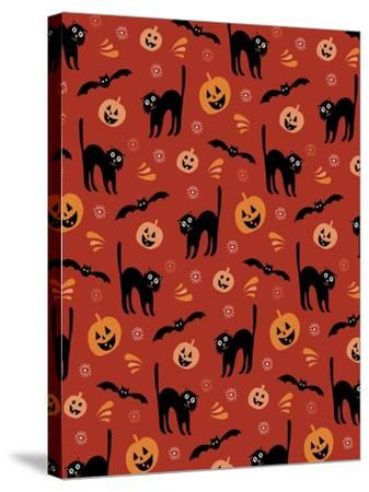 Jack-o-Lantern-Esther Loopstra-Stretched Canvas Print