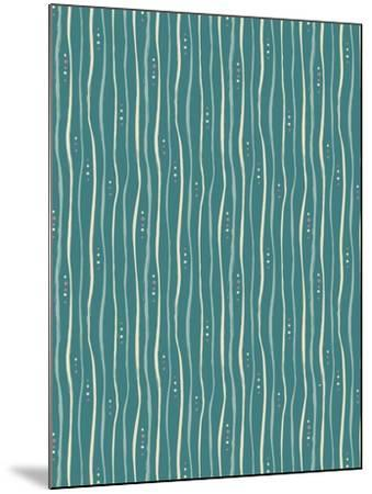 Teal Stripe Pattern-Esther Loopstra-Mounted Giclee Print