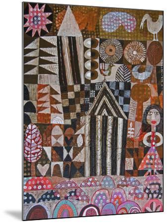 Woman and 2 Huts-Hilke Macintyre-Mounted Giclee Print