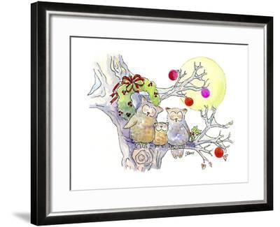 Owl Family-Jennifer Zsolt-Framed Giclee Print