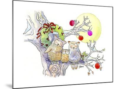 Owl Family-Jennifer Zsolt-Mounted Giclee Print