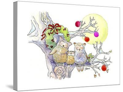 Owl Family-Jennifer Zsolt-Stretched Canvas Print