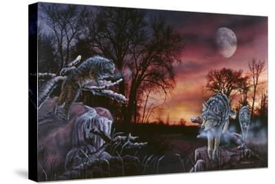 Moonlight Trackers-Gordon Semmens-Stretched Canvas Print