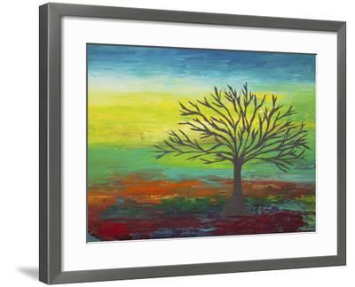 Abstract Tree 3-Hilary Winfield-Framed Giclee Print